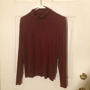Eileen Fisher size M burgundy silk turtleneck